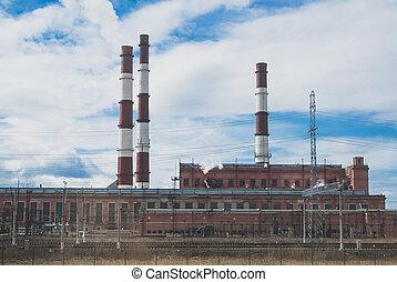 電気エネルギー, plant., 熱, avtovo, chp-15.