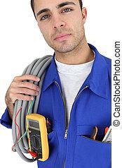 電気技師, 準備ができた, 働くため