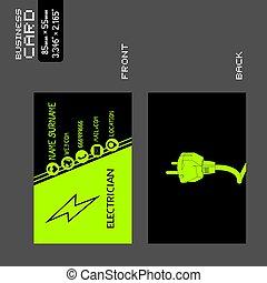 電気技師, 訪問, 涼しい, カード