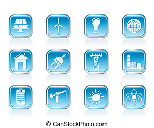電気, エネルギー, 力, アイコン