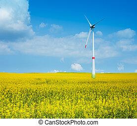 電気, タービン, 風力