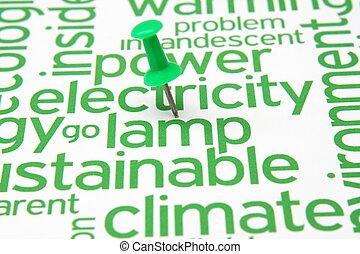 電気, テキスト, 子羊, 押しの pin