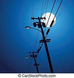 電気, ポスト, ベクトル
