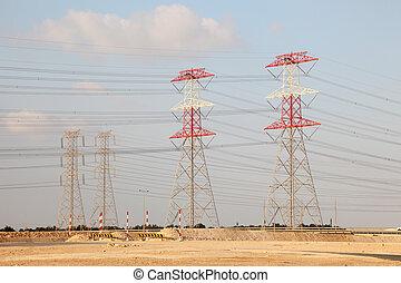 電気, 中東, パイロン, qatar