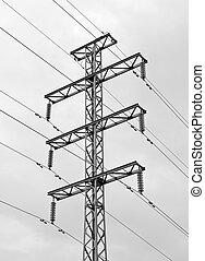 電気, 伝達, マスト