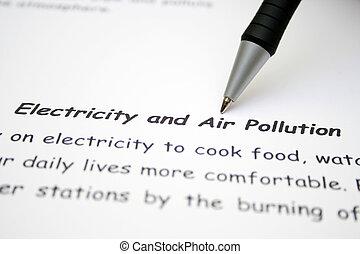 電気, 大気汚染