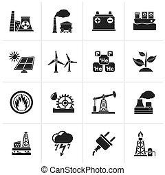 電気, 源, エネルギー, アイコン
