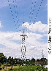 電気, transmittion, タワー, 1