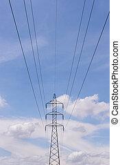 電気, transmittion, タワー, 3