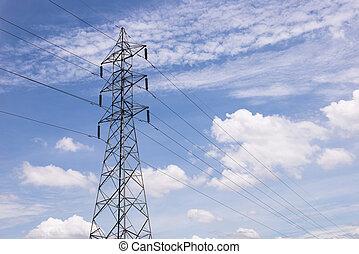 電気, transmittion, 5, タワー