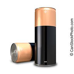 電池, エネルギー, 缶