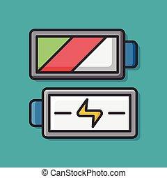 電池, カメラ, 力, アイコン
