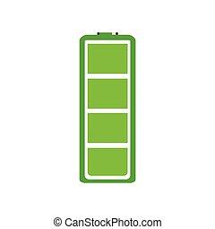 電池, フルである, アイコン