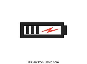 電池, ロゴ, 力