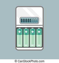 電池, 充電器