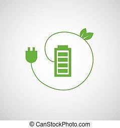 電池, 充電器, 力, アイコン