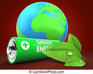 電池, 地球の 地球, 3d