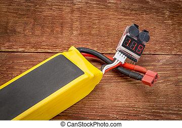電池, 重合体, テスト, lithium