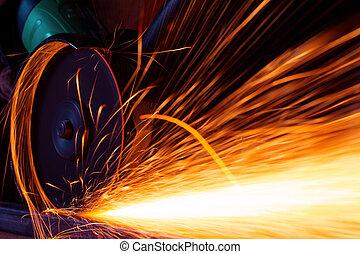 電火花, 當時, 碾, 鐵