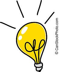 電球, いたずら書き