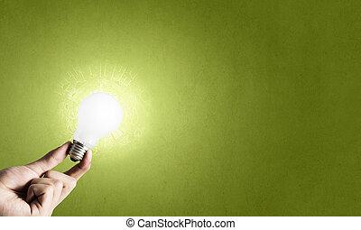電球, イメージ, 概念, 電気である, 白熱