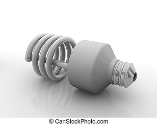 電球, エネルギー, セービング, cfl, 電球