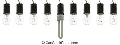 電球, セービング, ライト, エネルギー, 白熱 球根