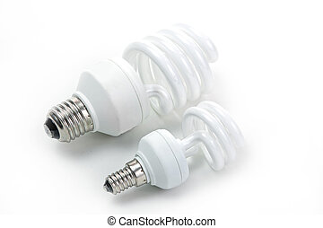 電球, ランプ, 隔離された, 背景, 蛍光