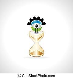 電球, 中, 創造的, 砂, 時計