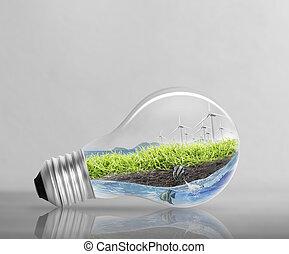 電球, 代替エネルギー, 概念