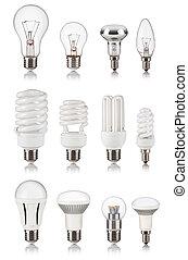 電球, 別, セット, ライト