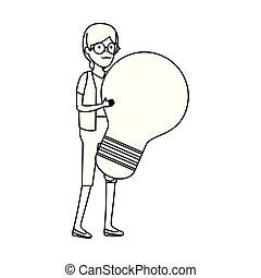 電球, 女, 古い
