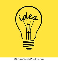 電球, -, 考え, ベクトル