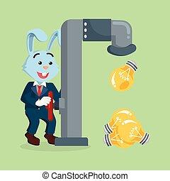 電球, 蛇口, ビジネス, うさぎ