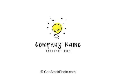 電球, embodying, idea., 抽象的, ロゴ, ベクトル, イメージ, ライト