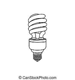 電球, energy-saving, アイコン