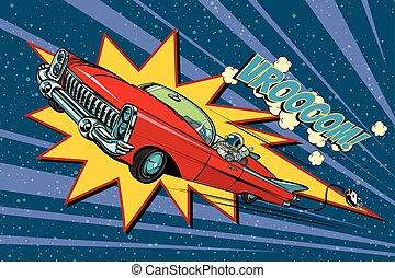 電的汽車, 空間, 高速