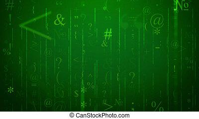 電腦空間, 電腦, 綠色, 簽署