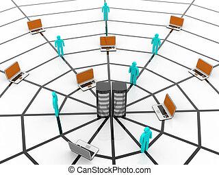 電腦網路, .web, 概念, 在上方, 白色 背景