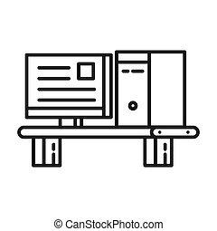電腦, 書桌