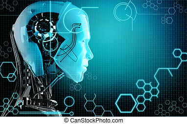 電腦, 機器人, 背景