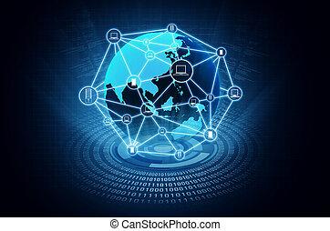 電腦, 网絡, 網際網路