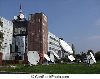電視, 車站, up-link
