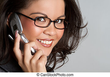 電話の女性