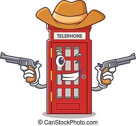 電話ボックス, 形, 特徴, マスコット, カウボーイ