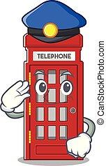 電話ボックス, 形, 特徴, マスコット, 警察