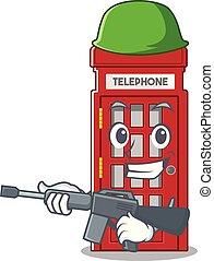電話ボックス, 形, 特徴, マスコット, 軍隊