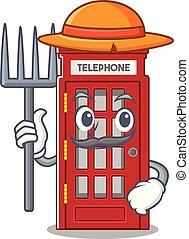 電話ボックス, 形, 特徴, マスコット, 農夫
