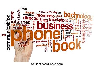 電話帳, 単語, 雲
