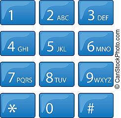 電話, ダイヤルのパッド